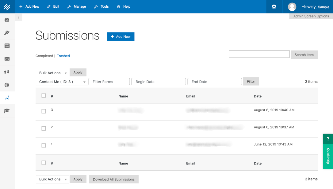 Easily manage form information