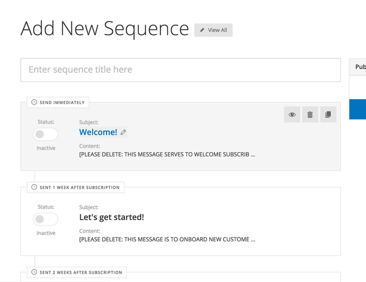 Unleash the power of sophisticated automated email sequences