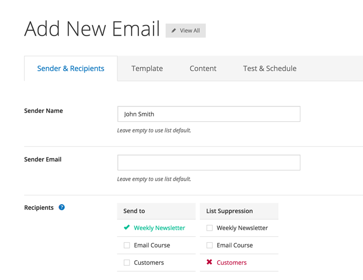 Send broadcast emails and schedule sophisticated autoresponders